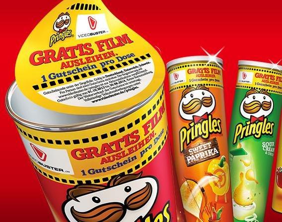 2 Filme per Post oder 1 VoD-Titel gratis bei Kauf einer Pringles-Packung @Videobuster (auch für Bestandskunden)