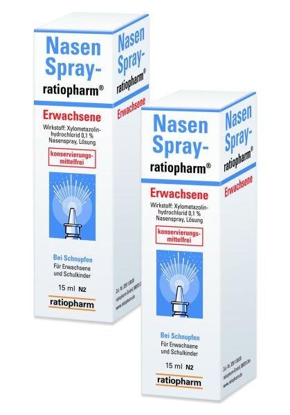 [Volksversand Apotheke] mehrere Angebote z.B. 2x15ml Ratiopharm Nasenspray für 4,95 VSK-frei
