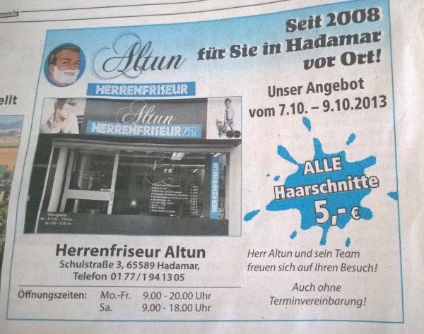 Alle Haarschnitte für 5 Euro [Lokal]