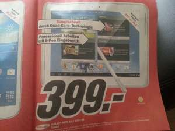 [Lokal Hamburg] Samsung Galaxy Note 10.1 Wifi + 3G für 399€