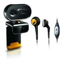 Philips SPZ2500 VGA PC Webcam (Mikrofon, 1,3 MP (interpoliert), hochwertiges MultiMedia Headset, Abdeckung) für 14,99€ @ DC