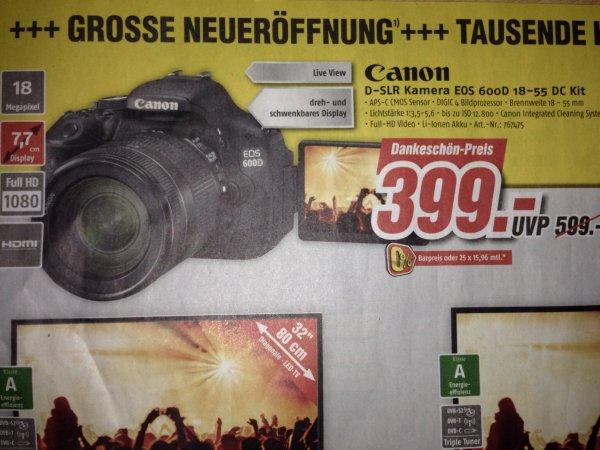 Canon D-SLR Kamera EOS 600D 18-55 DC Kit Medimax Senftenberg