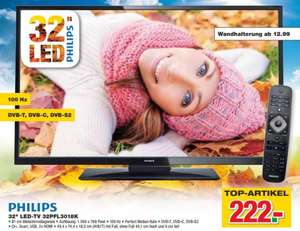 [handelshof 8.10.13 10% auf alles] Philips 32PFL3018K 81cm LED-TV, EEK A , 100hz, Triple Tuner DVB-T/C/S/S2, USB 2.0 (Mediaplayer), 2x HDMI, HD Ready 1366x768
