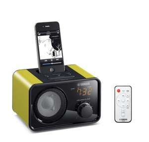 "Yamaha PDX-13 Green/Red Tragbare Player-Docking Station für iPod video/classic/nano/touch / iPhone 3G/3GS/4 (kein ""Lightning"") geeignet [mit qipu -0,40 € - idealo.de: ab 57,99 €., Ersparnis ca. 26,4%]"