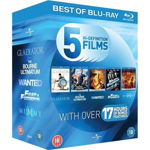 Blu-ray Box - Starter Pack (5 Filme auf 6 Discs, u.a. Wanted,Gladiator,...) für €11,76 [@Zavvi.com]