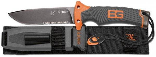 Bear Grylls Messer incl. Feuerstahl, Wetzstein, Pfeife und Scheide. schwarz/orange. [39,93 € @ amazon]
