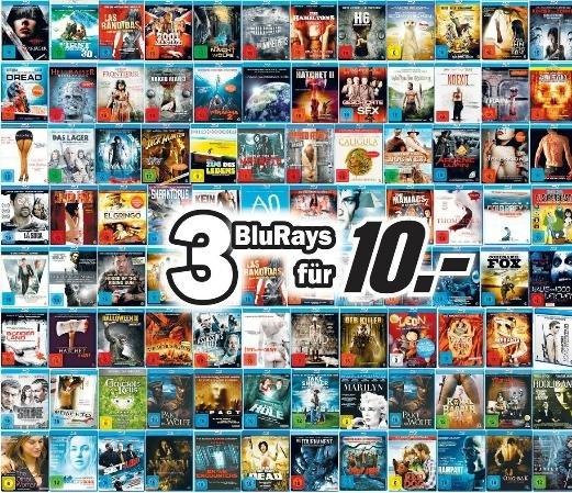 [Lokal - Porta-Westfalica] 3 Blu-rays für 10€!!!
