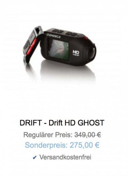 Actionkamera Drift HD Ghost mit integriertem Display und WiFi für 275 €