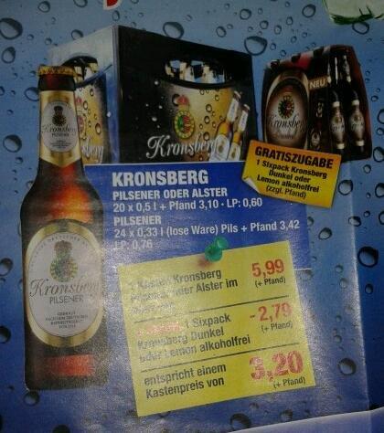 Kronsberg Pils effektiv 3,20€ bei Hoffmann Getränke