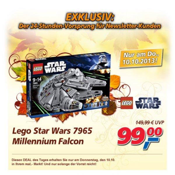 Real Bundesweit am 10.10.13 Lego Millenium Falcon 99,00€