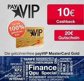 Wieder da! payVIP Mastercard + 20€ Amazon-Gutschein + 10€ Qipu Cashback