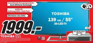 [Lokal MM Bruchsal] 55 Zoll Ultra HD Toshiba ZL2G  LCD TV inkl. BluRay Player BDX6400