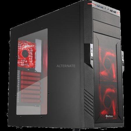 Sharkoon T28 red edition (ATX-Gehäuse, Window, USB 3.0) @ ZackZack