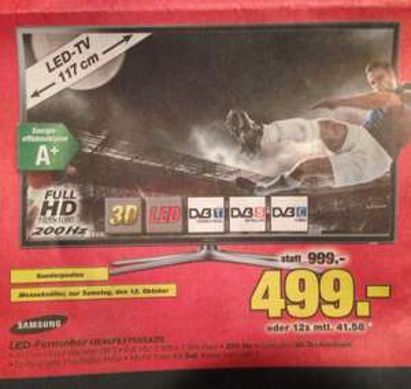[LOKAL Meckenheim] Samsung UE46F6170 Fernseher