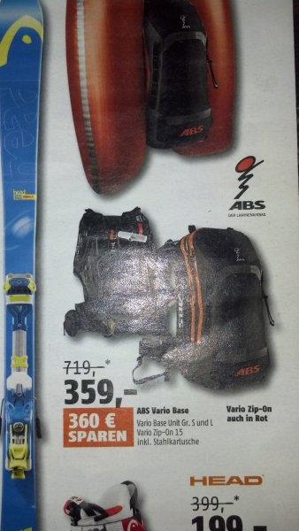 [Sport Scheck Neueröffnung] ABS Vario Base Gr. S und L, Vario Zip-On 15 inkl. Stahlkartusche