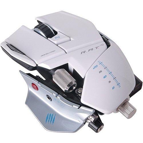 Mad Catz Cyborg R.A.T.9  weiß - Gaming Maus, wireless, Laser, 6400dpi, 5 Tasten für PC and Mac bei @ebay.de