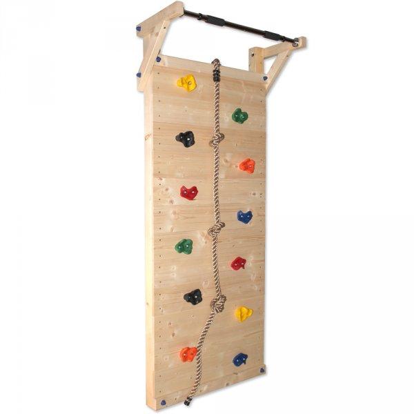 Kletterwand mit Klimmzugstange für Kinder