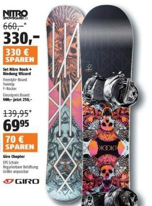 Rabatt-Aktion bei SportScheck: Snowboard von 660€ auf 330€ reduziert