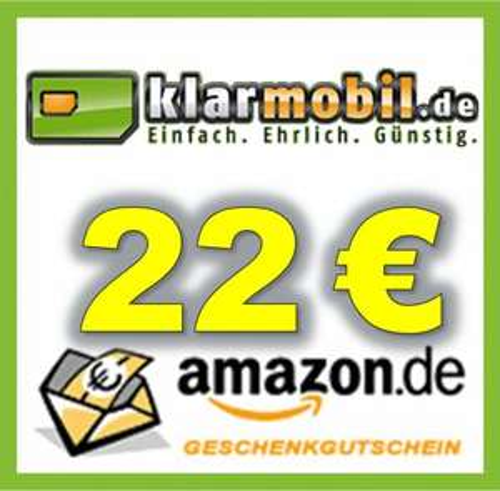 klarmobil + 22 Euro Amazon Gutschein