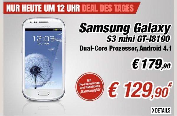 [NBB - 0% Finanzierung - EU Ware] Samsung s3 mini 129€ - ab 12Uhr