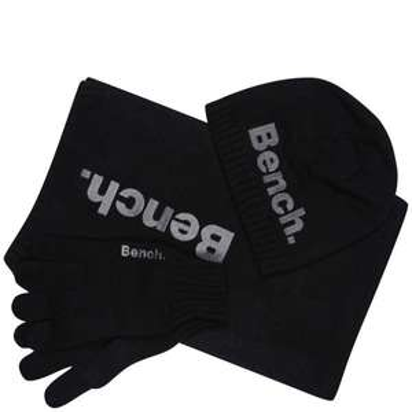 Bench Geschenkset: Schal & Mütze & Handschuhe schwarz @zavvi.com für nur 14,16€