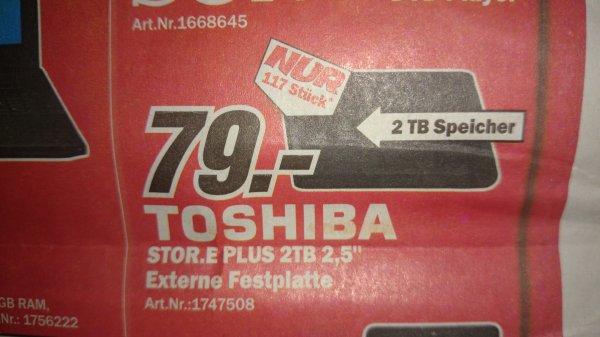 """(Lokal KN) Toshiba Stor.e plus 2tb 2,5"""" 79€"""