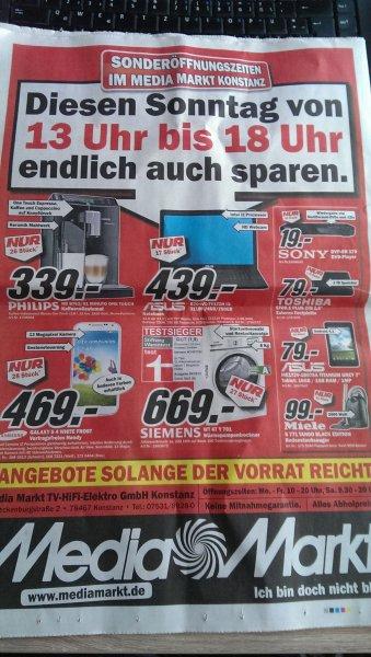 [Lokal Konstanz] Gute Angebote bei Media Markt am Verkaufsoffenen Sonntag