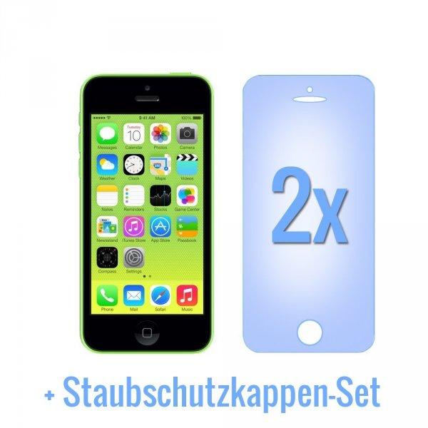 iPhone 5 / 5S / 5C Displayschutzfolie (2Stk.) + Staubschutzkappen-Set für 1,29EUR inkl. Versand aus DE @amazon