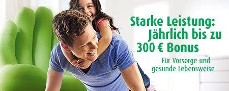 AOK Plus: bis 300 € zurück (auch für Familienversicherte) - Bonusprogramm