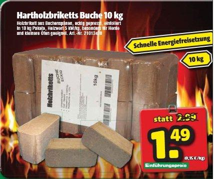 Holzbriketts für unter 1,49€/10kg München + Region