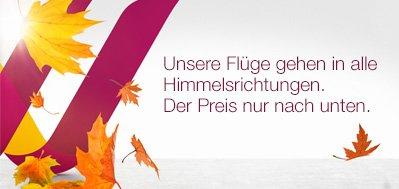 Germanwings Flugangebote ab EUR 33,- (z.B. Köln > Berlin, Köln > Prag) inkl. Meilen
