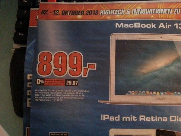 """Saturn Braunschweig - Macbook Air 13"""" MD760 Mid2013"""