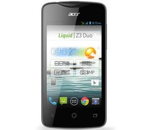 Acer Liquid Z3 Duo (Dual SIM fähig, 2x 1.0 Ghz, 512 MB RAM, Android 4.2)
