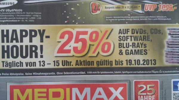 MediaMax Hannover HappyHour 25% Rabatt