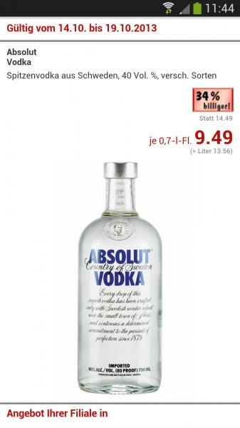 [Kaufland Region HN] Absolut Vodka 9.49€ ab 14.10