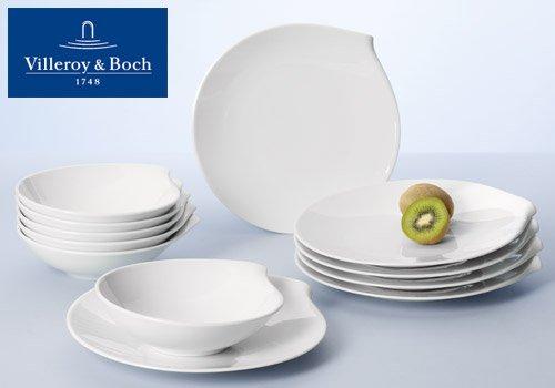 LOKAL bei Segmüller Villeroy & Boch Flow Dinnerset 12-teilig weiß, 6x Speiseteller 6x Suppenteller 79€