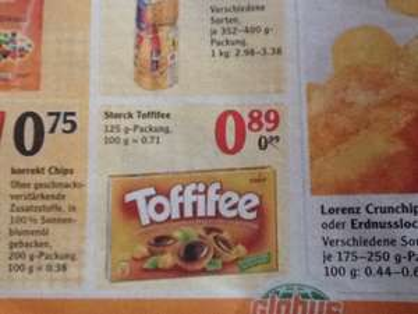 Globus Kaiserslautern - Storck Toffifee 125g nur 0,89€