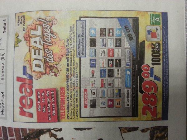 "39"" Telefunken LED TV mit Triple Tuner 289€ @Real"