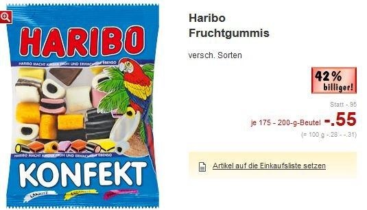[OFFLINE LOKAL] - Haribo Fruchtgummis verschiedene Sorten 175-200g im Kaufland Lippstadt