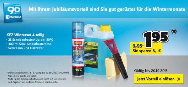 [Conrad] zum dazu bestellen: KFZ Winterset 4-teilig (Mindestbestellwert 10 Euro)