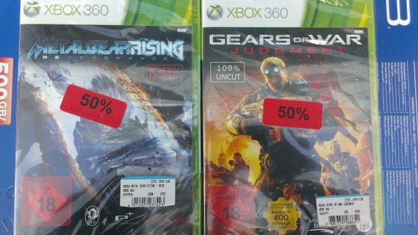 [Lokal HH Halstenbek] Xbox 360 & PS3 Spiele 50% reduziert: z.b. Gears of War Judgment incl. 400 MS Punkte für ~ 15€ @ Media Markt