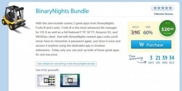 (MAC) BinaryNights Bundle mit ForkLift und Locko für nur 14,74€ - 60% Ersparnis