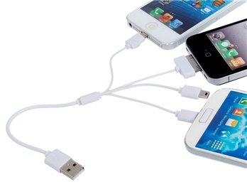 20% Rabatt 4-in-1 Daten Ladekabel für iPhone / iPod €1,90 incl. Versand