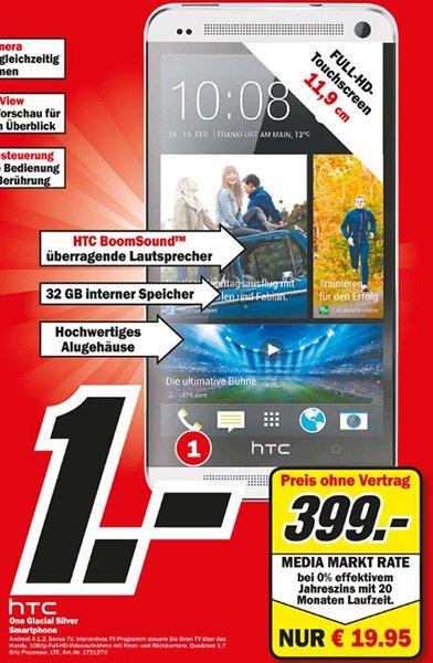 [Lokal Wiesbaden] Mediamarkt Hasengarten: HTC One 32 GB