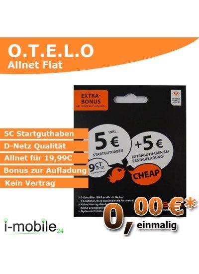 GRATIS o.tel.o Prepaid Karte mit 5€ Startguthaben