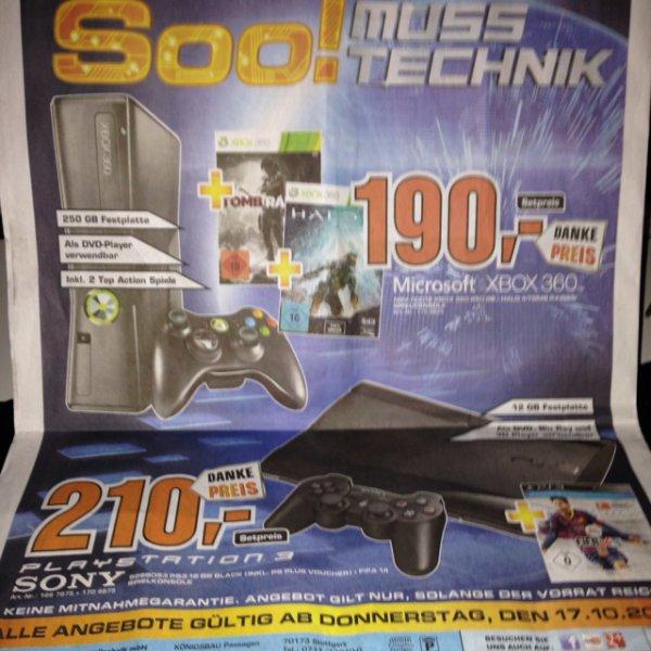 [Saturn Stuttgart] Xbox 250GB + 2 Spiele für 190€ und mehr