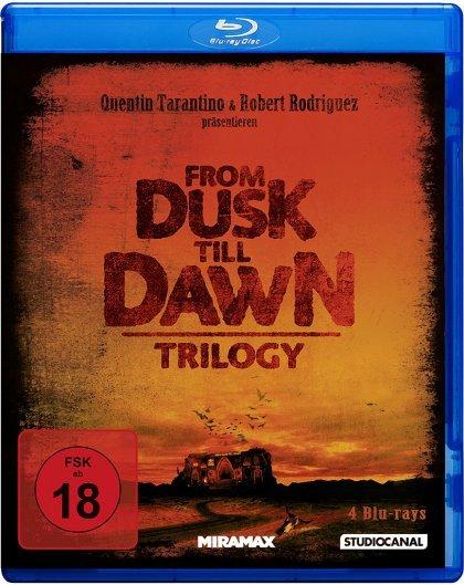 From Dusk Till Dawn 1 + 2 + 3 - Blu-ray Trilogy (DE) + Bär Plüschtier @ media-dealer.de