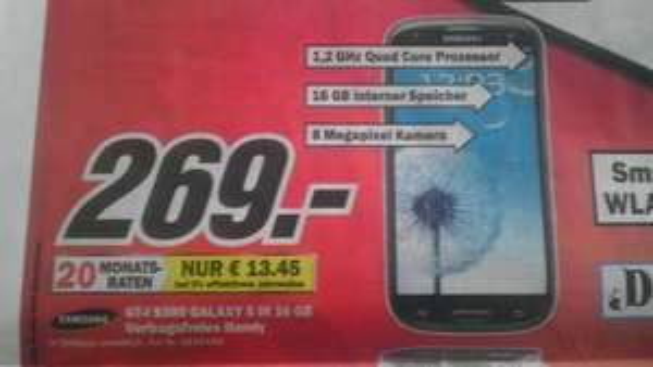 [Lokal] Samsung Galaxy S3 GT-I9300 nur am 20.10.13