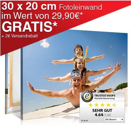 20x30 Fotoleinwand für 6,90€