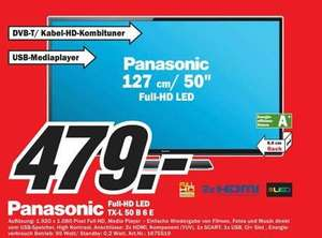 [MM][Düsseldorf] Panasonic TX-L 50 B 6 E (idealo 575€)